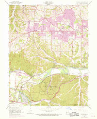 Download a high-resolution, GPS-compatible USGS topo map for Manchester, MO (1969 edition)