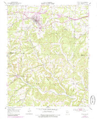 Download a high-resolution, GPS-compatible USGS topo map for Mansfield, MO (1985 edition)
