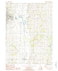 Download a high-resolution, GPS-compatible USGS topo map for Maryville East, MO (1985 edition)