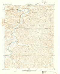 Download a high-resolution, GPS-compatible USGS topo map for Meramec State Park, MO (1937 edition)