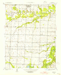 Download a high-resolution, GPS-compatible USGS topo map for Metz, MO (1954 edition)