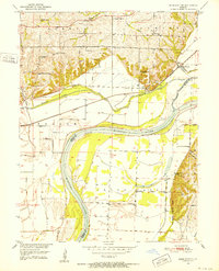 Download a high-resolution, GPS-compatible USGS topo map for Miami Station, MO (1952 edition)
