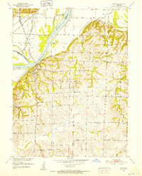 Download a high-resolution, GPS-compatible USGS topo map for Miami, MO (1952 edition)