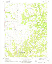 Download a high-resolution, GPS-compatible USGS topo map for Millersburg SW, MO (1978 edition)