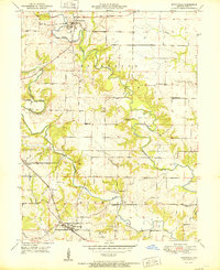 Download a high-resolution, GPS-compatible USGS topo map for Monticello, MO (1951 edition)