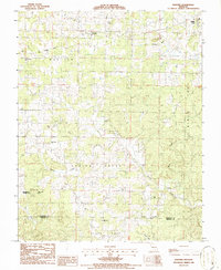 Download a high-resolution, GPS-compatible USGS topo map for Montier, MO (1986 edition)