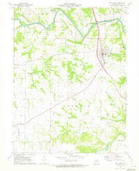 Download a high-resolution, GPS-compatible USGS topo map for New London, MO (1973 edition)