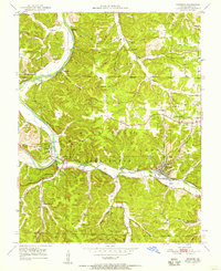 Download a high-resolution, GPS-compatible USGS topo map for Newburg, MO (1957 edition)