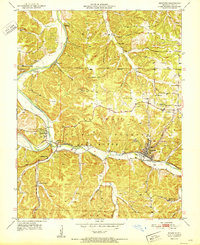 Download a high-resolution, GPS-compatible USGS topo map for Newburg, MO (1951 edition)