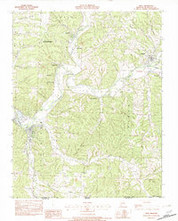Download a high-resolution, GPS-compatible USGS topo map for Noel, MO (1982 edition)