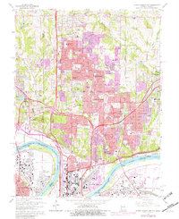 Download a high-resolution, GPS-compatible USGS topo map for North Kansas City, MO (1982 edition)
