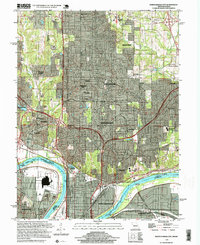 Download a high-resolution, GPS-compatible USGS topo map for North Kansas City, MO (1999 edition)