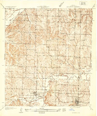 Download a high-resolution, GPS-compatible USGS topo map for Oak Grove, MO (1934 edition)