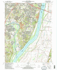 Download a high-resolution, GPS-compatible USGS topo map for Oakville, MO (1991 edition)
