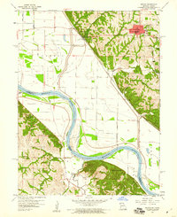 Download a high-resolution, GPS-compatible USGS topo map for Oregon, MO (1960 edition)