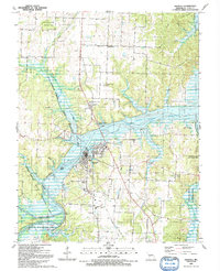 Download a high-resolution, GPS-compatible USGS topo map for Osceola, MO (1991 edition)