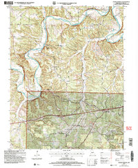 Download a high-resolution, GPS-compatible USGS topo map for Ozark Springs, MO (2006 edition)