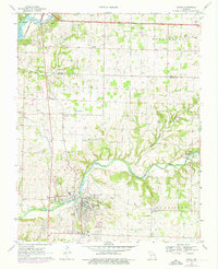 Download a high-resolution, GPS-compatible USGS topo map for Ozark, MO (1976 edition)
