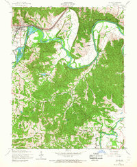 Download a high-resolution, GPS-compatible USGS topo map for Pacific, MO (1968 edition)