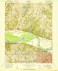 Download a high-resolution, GPS-compatible USGS topo map for Parkville, MO (1951 edition)