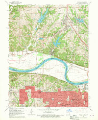 Download a high-resolution, GPS-compatible USGS topo map for Parkville, MO (1970 edition)