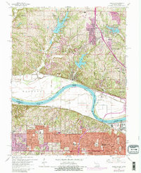 Download a high-resolution, GPS-compatible USGS topo map for Parkville, MO (1980 edition)