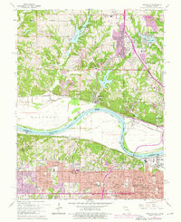 Download a high-resolution, GPS-compatible USGS topo map for Parkville, MO (1976 edition)