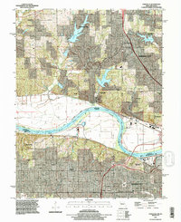 Download a high-resolution, GPS-compatible USGS topo map for Parkville, MO (1996 edition)