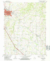 Download a high-resolution, GPS-compatible USGS topo map for Perryville East, MO (1986 edition)