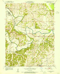 Download a high-resolution, GPS-compatible USGS topo map for Pilot Grove North, MO (1954 edition)