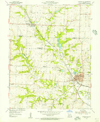 Download a high-resolution, GPS-compatible USGS topo map for Pleasant Hill, MO (1955 edition)