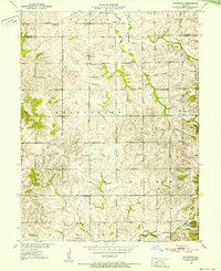 Download a high-resolution, GPS-compatible USGS topo map for Plymouth, MO (1952 edition)