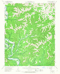 Download a high-resolution, GPS-compatible USGS topo map for Reeds Spring, MO (1968 edition)