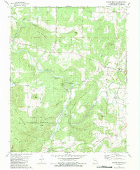 Download a high-resolution, GPS-compatible USGS topo map for Rhodes Mountain, MO (1983 edition)
