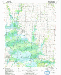 Download a high-resolution, GPS-compatible USGS topo map for Rockville, MO (1991 edition)