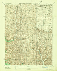Download a high-resolution, GPS-compatible USGS topo map for Rocky Mount, MO (1935 edition)