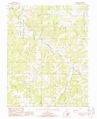 Download a high-resolution, GPS-compatible USGS topo map for Roubidoux, MO (1987 edition)