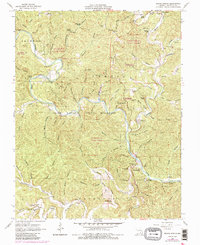 Download a high-resolution, GPS-compatible USGS topo map for Round Spring, MO (1985 edition)