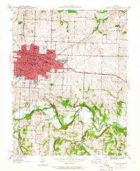 Download a high-resolution, GPS-compatible USGS topo map for Sedalia East, MO (1966 edition)