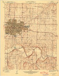 Download a high-resolution, GPS-compatible USGS topo map for Sedalia East, MO (1946 edition)