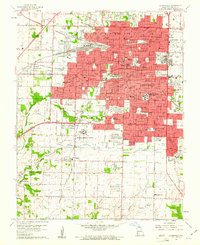 Download a high-resolution, GPS-compatible USGS topo map for Springfield, MO (1961 edition)
