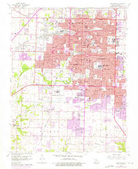 Download a high-resolution, GPS-compatible USGS topo map for Springfield, MO (1976 edition)
