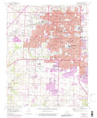 Download a high-resolution, GPS-compatible USGS topo map for Springfield, MO (1986 edition)