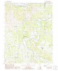 Download a high-resolution, GPS-compatible USGS topo map for St Anthony, MO (1988 edition)