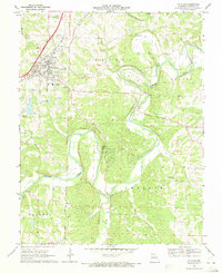 Download a high-resolution, GPS-compatible USGS topo map for St Clair, MO (1971 edition)