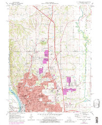 Download a high-resolution, GPS-compatible USGS topo map for St Joseph North, MO (1989 edition)
