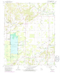 Download a high-resolution, GPS-compatible USGS topo map for Sturdivant, MO (1985 edition)