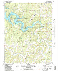 Download a high-resolution, GPS-compatible USGS topo map for Toronto, MO (1983 edition)
