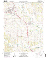 Download a high-resolution, GPS-compatible USGS topo map for Troy, MO (1982 edition)
