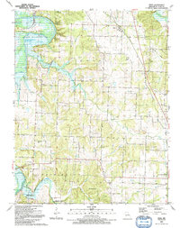 Download a high-resolution, GPS-compatible USGS topo map for Vista, MO (1991 edition)